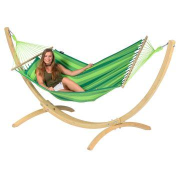Wood & Relax Green Hängematte mit Gestell